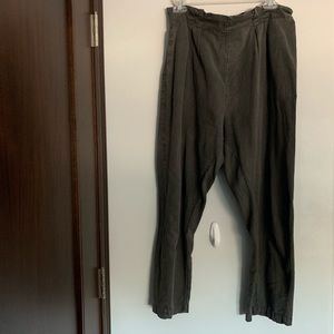 High waisted linen pants